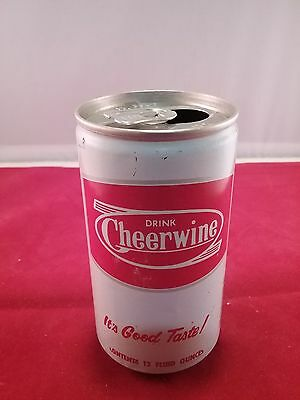 Cheerwine Soda Can in Nice Condition 12 oz. Steel
