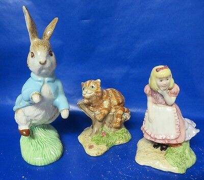 Royal Doulton Beswick Peter Rabbit Alice and Cheshire Cat