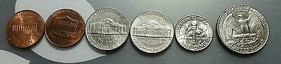 United States 1-25 cent coin set