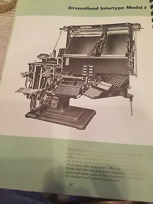 Linotype intertype Book Manual  Printing Mechanism Typesetting