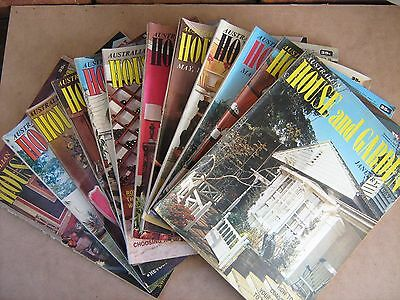 AUSTRALIAN HOUSE AND GARDEN (12 magazines -1969 )