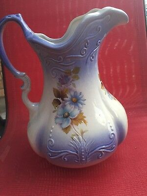Antique Ewer Pitcher, RS Prussia, marked