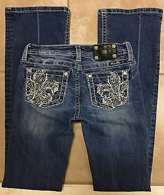 Miss Me JPK8162B Girls Boot Stretch Blue Jeans size 16 x 32