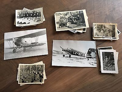 Lot of VTG WW2 WWII Photos c. 1940's - Planes, Aircraft, and Soldiers (L10-G1)