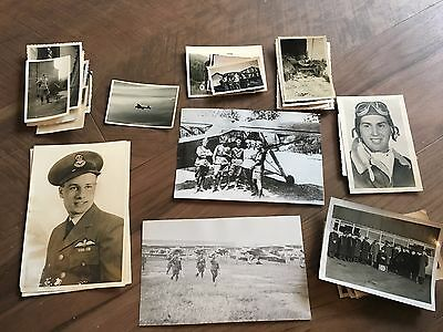 Lot of VTG WW2 WWII Photos c. 1940's & 1930's- Planes and Soldiers (L10-G2)