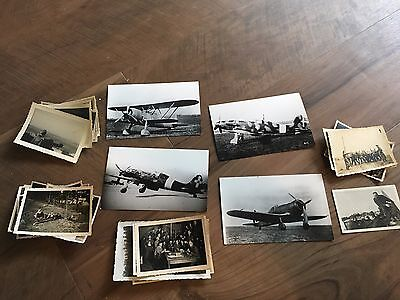 Lot of VTG WW2 WWII Photos c. 1940's - Planes, Aircraft, and Soldiers (L10-G4)