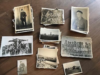 Lot of VTG WW2 WWII Photos c. 1940's - Soldiers & Life During War  (L10-G8)