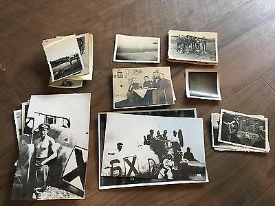 Lot of VTG WW2 WWII Photos c. 1940's - Planes, Aircraft, and Soldiers (L10-G9)