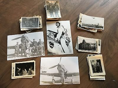 Lot of VTG WW2 WWII Photos c. 1940's - Planes, Aircraft, and Soldiers (L10-G10)