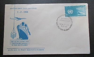 India 1968  United Nations Trade Conference...fdc