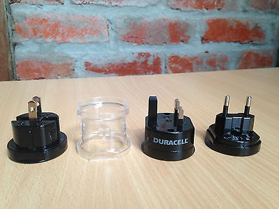 Compact Travel Adapter Set Duracell International All-In-One Unit 150 Countries