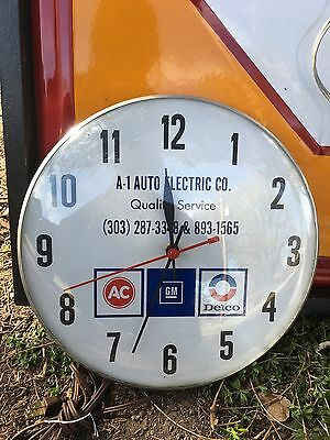 Vintage A-1 Auto Electric AC Delco GM Dealership Showroom Clock Sign