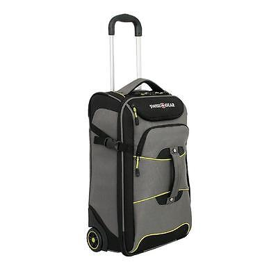 21 in Luggage Suitcase Wheeled Rolling Travel Bag Carry On Trolley Gray & Black