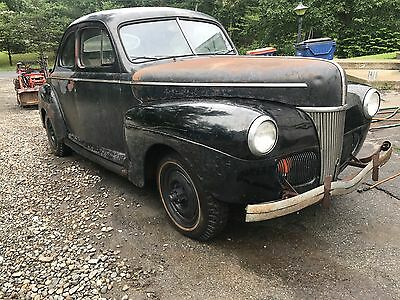 1941 Ford COUPE Willys six motor 4X4 RAT ROD HOT ROD CUSTOM GASSER 1941 Ford Coupe Willys Super hurricane 6 Flathead 4x4 Rat Hot Street Rod Runs NY