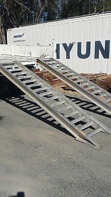 Aluminum Ramps 6.2 Ton For Steel or Rubber tracks