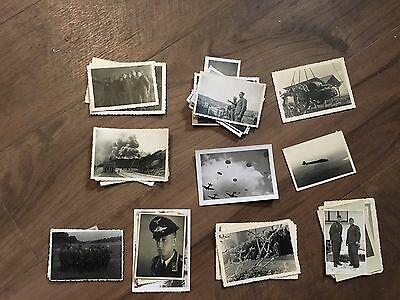 Lot of VTG WW2 WWII Photos c. 1940's - Planes, Aircraft, and Soldiers (L11-G1)
