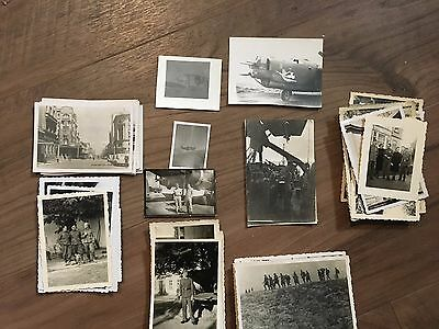Lot of VTG WW2 WWII Photos c. 1940's - Pin Up Nose Art Planes (L11-G3)