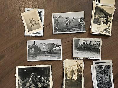 Lot of VTG WW2 WWII Photos c. 1940's - Pin Up Nose Art Planes (L11-G4)