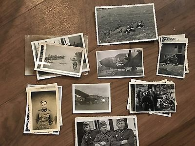 Lot of VTG WW2 WWII Photos c. 1940's - Pin Up Nose Art Planes (L11-G5)