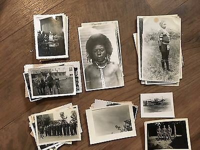 Lot of VTG WW2 WWII Photos c. 1940's - Planes, Aircraft, and Soldiers (L11-G6)