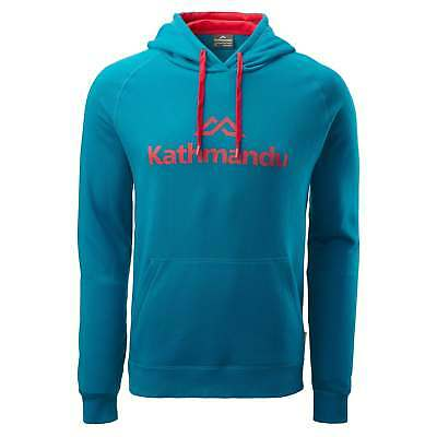 Kathmandu Mens Casual Hooded Pullover Longsleeve Hoodie Jumper Top v2 Blue