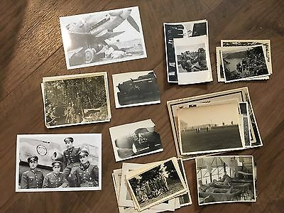 Lot of VTG WW2 WWII Photos c. 1940's - Pin Up Nose Art Planes (L12-G1)