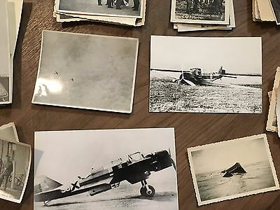 Lot of VTG WW2 WWII Photos c. 1940's - Planes, Aircraft, and Soldiers (L12-G2)