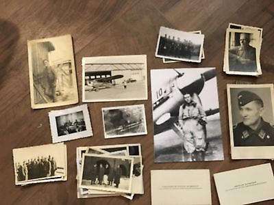 Lot of VTG WW2 WWII Photos c. 1940's - Planes, Aircraft, and Soldiers (L12-G3)