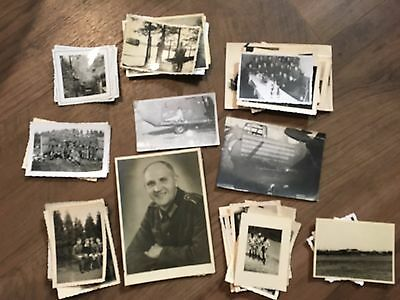 Lot of VTG WW2 WWII Photos c. 1940's - Pin Up Nose Art Planes (L12-G5)