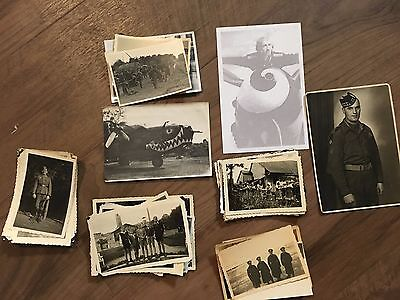 Lot of VTG WW2 WWII Photos c. 1940's - Planes, Aircraft, and Soldiers (L12-G9)