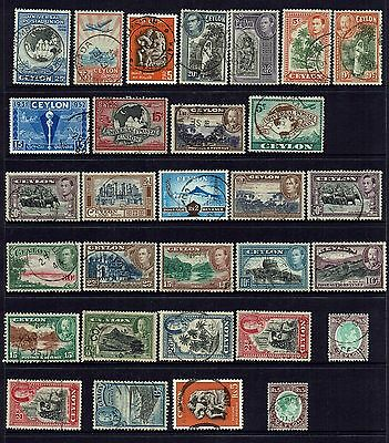Ceylon   Collection Of Older Stamps