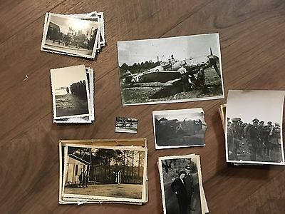 Lot of VTG WW2 WWII Photos c. 1940's - Pin Up Nose Art Planes (L12-G10)