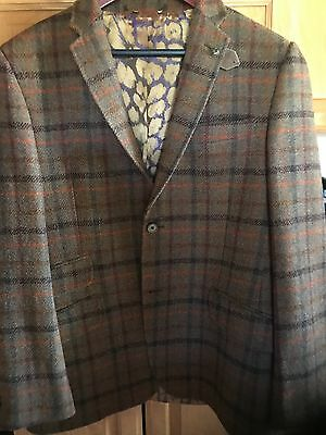 TED BAKER  MEN'S 2 BUTTONS Tweed wool SPORT JACKET BLAZER  SIZE 40