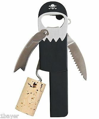 Suck UK Legless Corkscrew Pirate Beer Wine Soda Bartender Bottle Can Opener