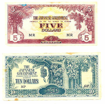11 Bank Notes Issued In Japanese Occupied Countries In Ww2