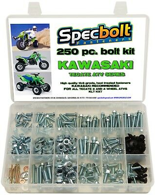 250pc Bolt Kit Kawasaki Tecate KXF250 KXT250 SPECBOLT ATV