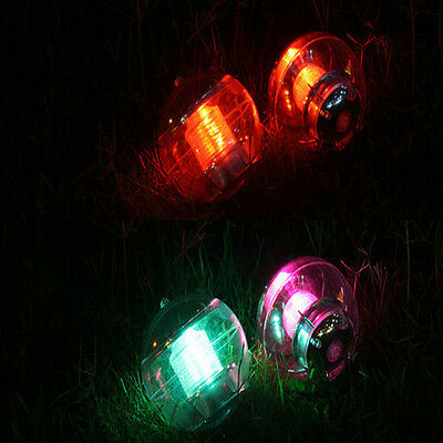 Colorful LED Outdoor Retro Solar Powered Lights Bulb Path Lamp Garden Decoration