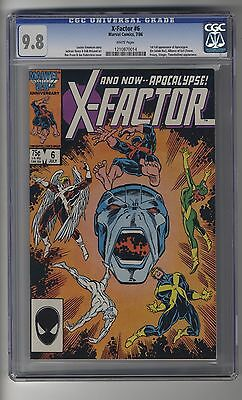 X-Factor (1986) # 6 - CGC 9.8 White Pages - First Appearance Apocalypse