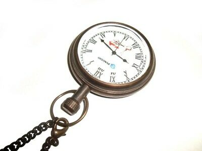 Hi Quality Rare Brass Antique Pocket Watch With Chain For Vespa Piaggio Scooters