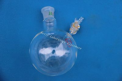 500ml Reaction Flask, with glass stopcock, glass lab instrument