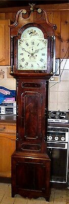 A Georgian Mahogany 8 day Antique Longcase Grandfather Clock C1820-30