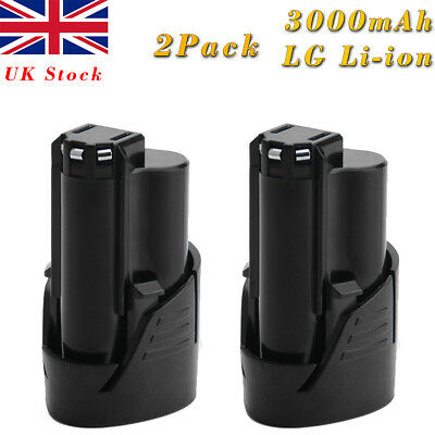 2Pcs 3.0Ah 12V Li-ion Battery for Milwaukee M12 M12B2 C12B 48-11-2401 48-11-2411