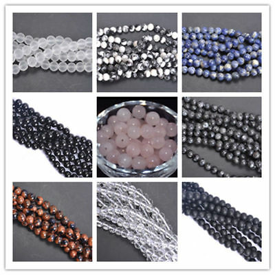 Fashion DIY Wholesale Natural Gemstone Round Spacer Loose Beads 4MM 6MM 8MM 10MM
