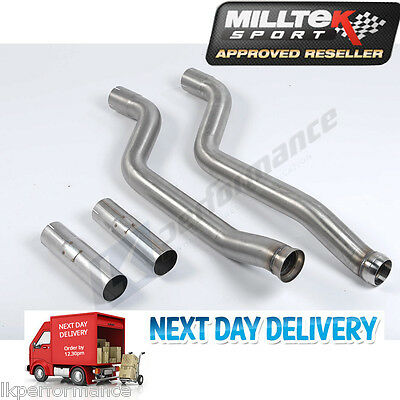 Milltek Secondary Catalyst Decat Bypass Pipes Exhaust Mercedes Benz C ClassC63