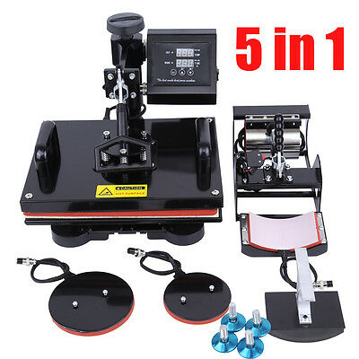 5 in 1 T-shirt transferpresse heat press transfer machine Heißpresse Hitze