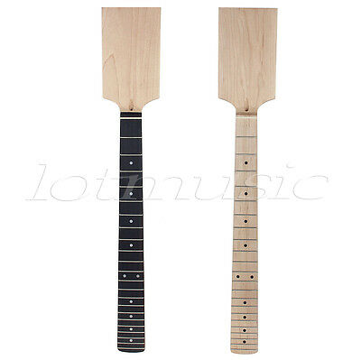 2 Pcs Electric Guitar Neck Paddle Head Maple 22 Frets Dot Inlay Parts