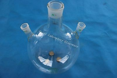 5000ml (5L) 3-neck Round bottom flask, Center 45/40 joint, side two 24/29 joints
