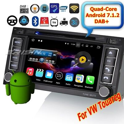 """Autoradio For VW TOUAREG 2004-2010 Android 7.1 DAB+Car DVD DTV OBD Wifi 7""""4772IT"""