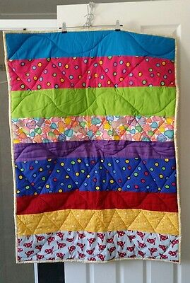 Handmade Cot/toddler bed quilt/play mat new great baby shower gift