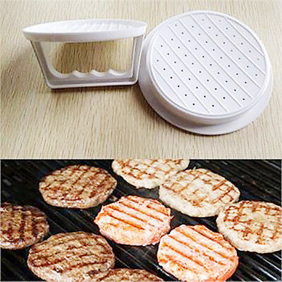 Plastic Burger Press Hamburger Meat Beef Grill Patty Cooking Maker Kitchen Mold